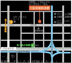 大阪産業創造館マップ